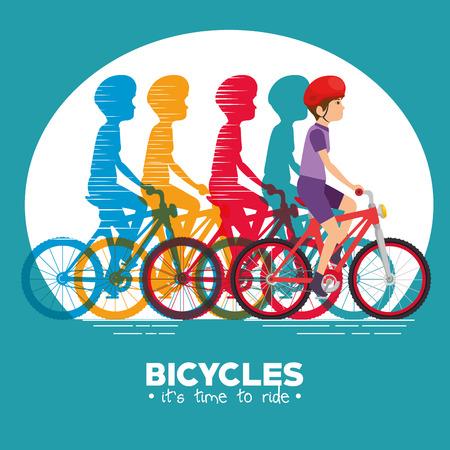 fietsen infographic ontwerp vector illustratie grafisch pictogram Stock Illustratie