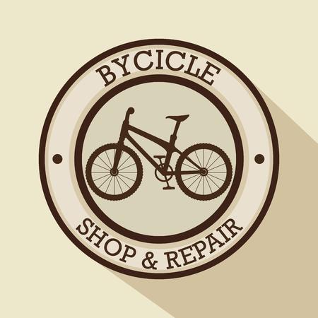 modern bike shop logo vector illustration graphic design