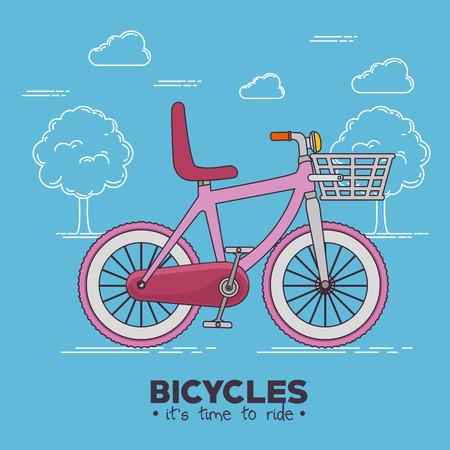 I love my bike label template vector illustration graphic design