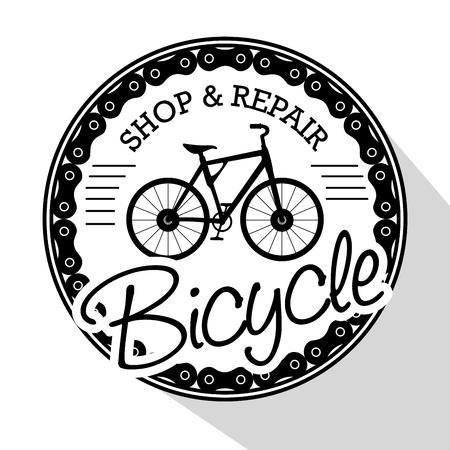 현대 자전거 가게 로고 벡터 일러스트 그래픽 디자인 일러스트