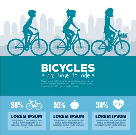 fietsen infographic ontwerp vector illustratie grafische pictogram