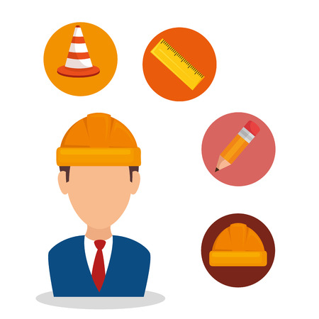 under construction concept design vector illustration graphic