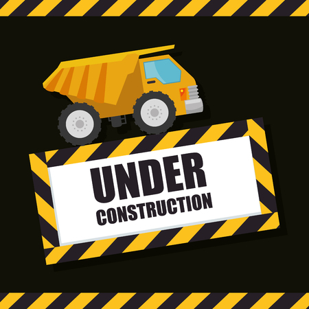 Under construction concept design vector illustration graphic