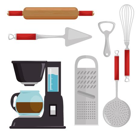Utensílios de cozinha ícone conjunto ilustração vetorial design gráfico Foto de archivo - 83732454