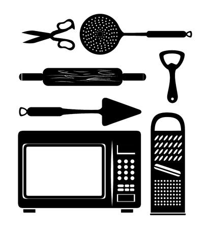 キッチン道具アイコン セット ベクトル イラスト グラフィック デザイン