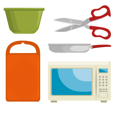 kitchen utensils icon set vector illustration graphic design
