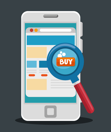 E-commerce concept online shopping infographic vector illustration graphic design Ilustração