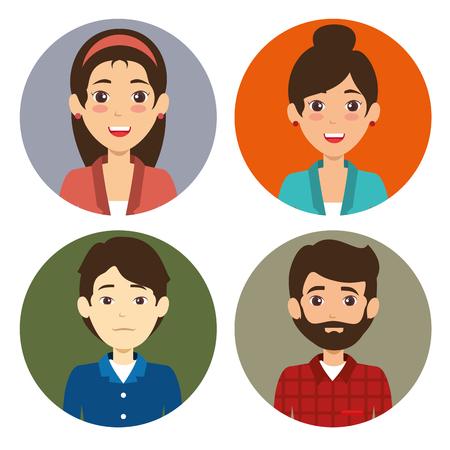 Diversity people icon set vector illustration graphic design Illustration