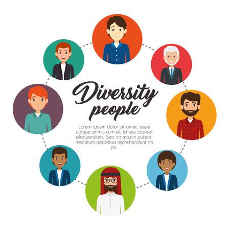 多様性人概念インフォ グラフィック ベクトル イラスト グラフィック デザイン
