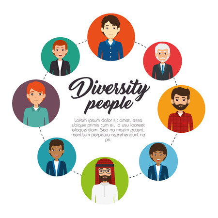 Diversity people concept infographic vector illustration graphic design
