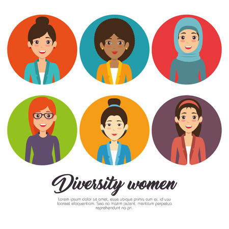 Diversity people concept, infographic vector illustration