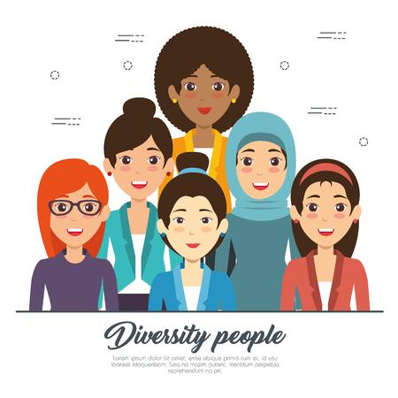 Van de het conceptenillustratie van diversiteitsmensen het grafische ontwerp.
