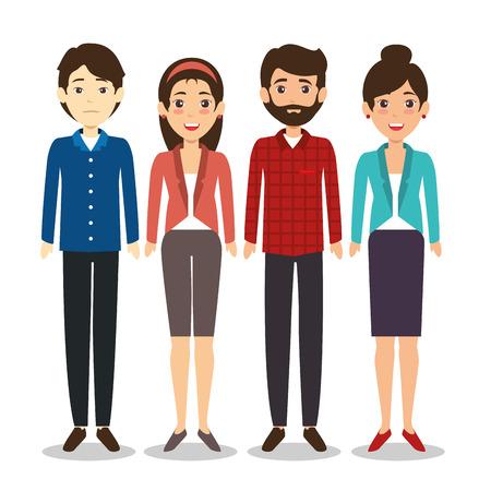 Het internationale van de de mensenconcept van het commerciële teamdiversiteit illustratie grafische ontwerp.