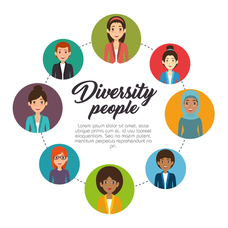 Diversity people concept illustration graphic design. Ilustração