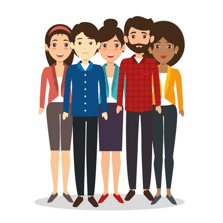diseño gráfico del ejemplo del vector del concepto de la gente de las personas del equipo del negocio del international
