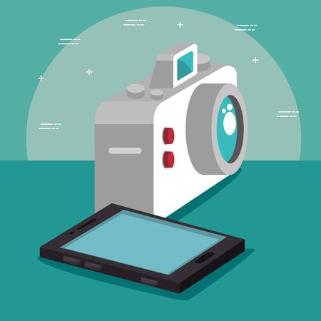 isometric technology 3D concept vector illustration graphic design