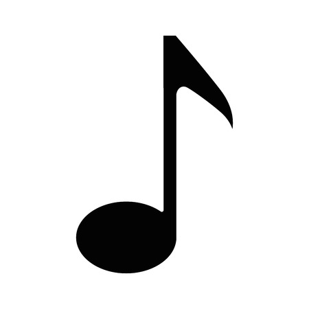 Musical note icon over white background vector illustration