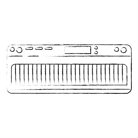 Piano instrumentpictogram over witte achtergrond vectorillustratie