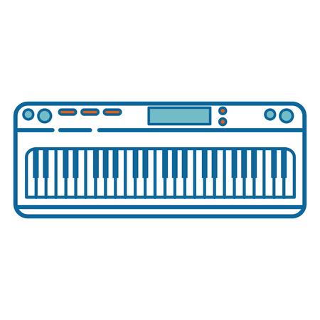 piano instrument icoon over witte achtergrond vector illustratie