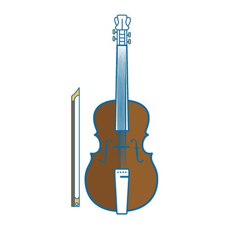 fiddle instrument icon over white background vector illustration Ilustrace