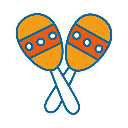 maracas instrument icon over white background vector illustration