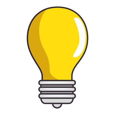 Bulb light energy over white background graphic design 向量圖像
