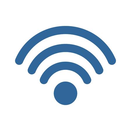 흰색 배경 벡터 일러스트 레이 션 위에 wifi 기호 아이콘 스톡 콘텐츠 - 83721839