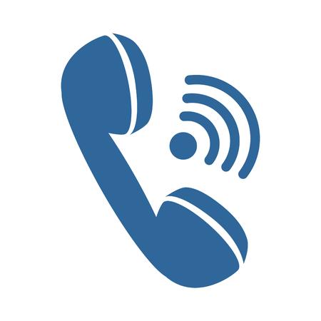 Icono de teléfono sobre fondo blanco ilustración vectorial Foto de archivo - 83721846