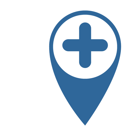 location pin icon over white background vector illustration