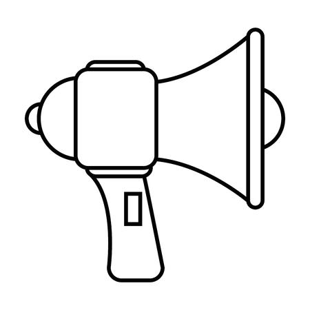 megaphone device icon over white background vector illustration