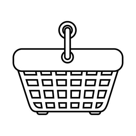 shopping basket icon over white background vector illustration Illustration