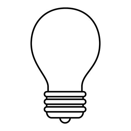 Bulb light energy over white background graphic design Illustration