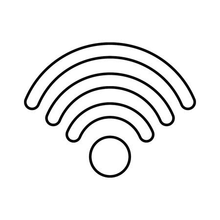 흰색 배경 벡터 일러스트 레이 션 위에 wifi 기호 아이콘 스톡 콘텐츠 - 83721881