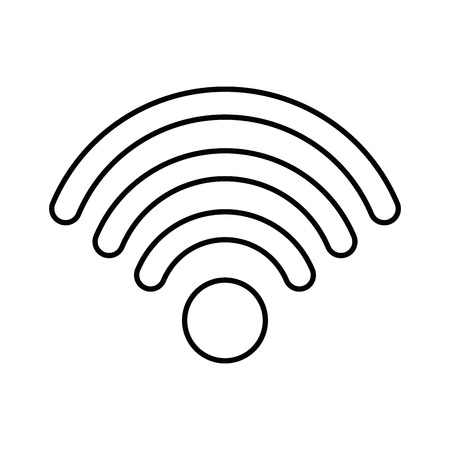 wifi sign icon over white background vector illustration Иллюстрация