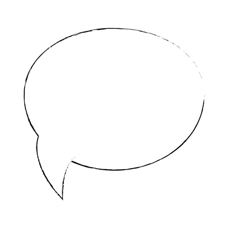 speech bubble icon over white background vector illustration