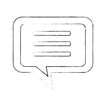 Speech bubble icon over witte achtergrond vector illustratie Stock Illustratie