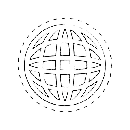 global sphere icon over white background vector illustration Illusztráció