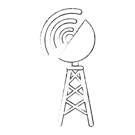 antenna icon over white background vector illustration