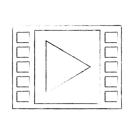 video player icon over white background vector illustration Ilustrace
