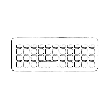 keyboard icon over white background vector illustration Illustration