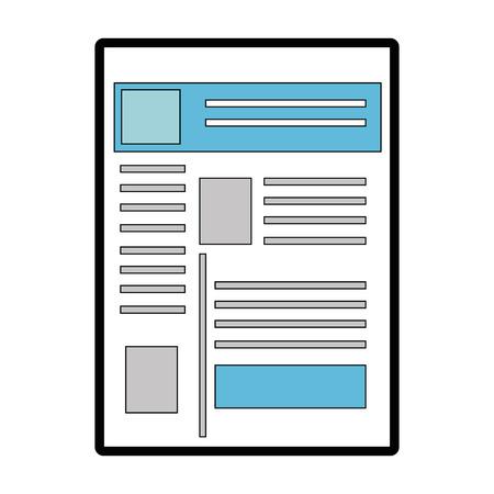 Website internet page over white background graphic design Ilustração