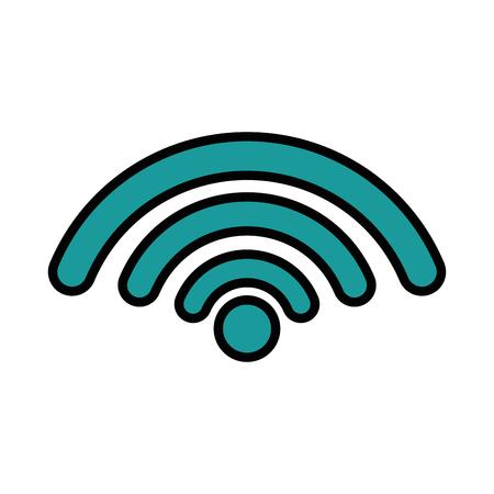 흰색 배경 벡터 일러스트 레이 션 위에 wifi 기호 아이콘 스톡 콘텐츠 - 83721949