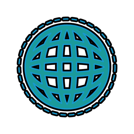 global sphere icon over white background vector illustration Banco de Imagens - 83722034