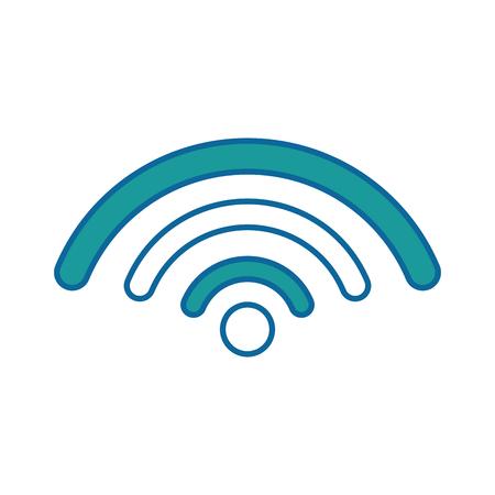wifi-teken pictogram over witte achtergrond vectorillustratie