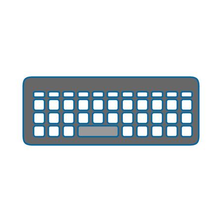 keyboard icon over white background vector illustration Ilustrace