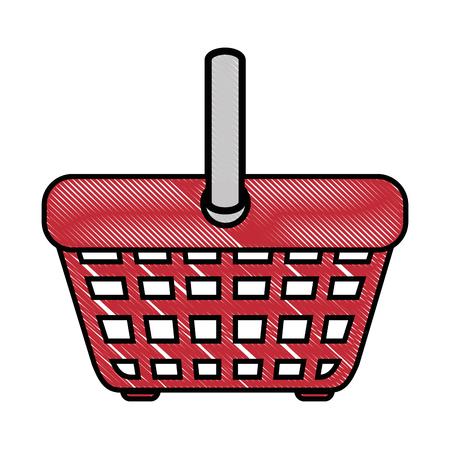 shopping basket icon over white background vector illustration Ilustração