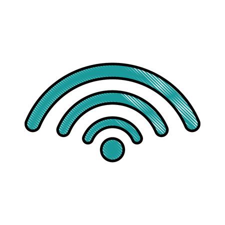 Wifi-teken pictogram over witte achtergrond vectorillustratie Stockfoto - 83723321