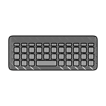 keyboard icon over white background vector illustration Illusztráció
