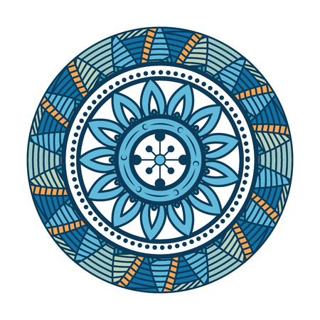 Mandala icon over white background colorful design vector illustration