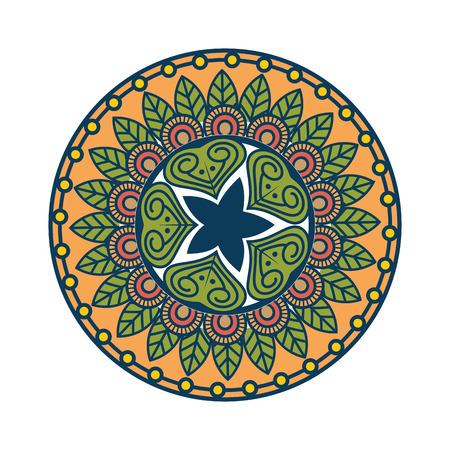 Mandala icon over white background colorful design vector illustration Reklamní fotografie - 83723179